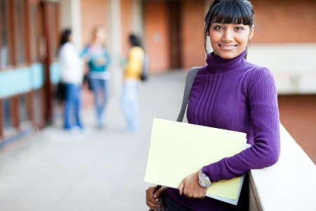 sweater girl: pretty indian college girl portrait Stock Photo