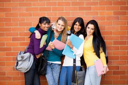 group of female college friends portrait Stock Photo - 14669258