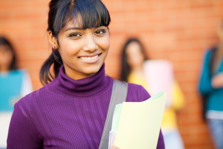 pretty female indian college student portrait Stock Photo - 14669145