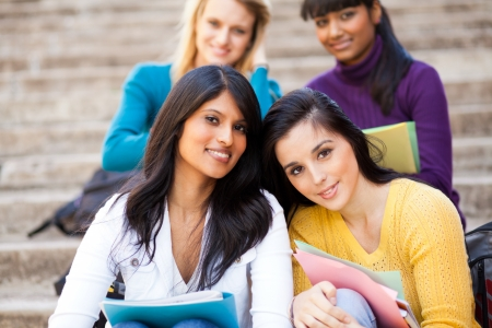group of young female university friends Stock Photo - 14669181