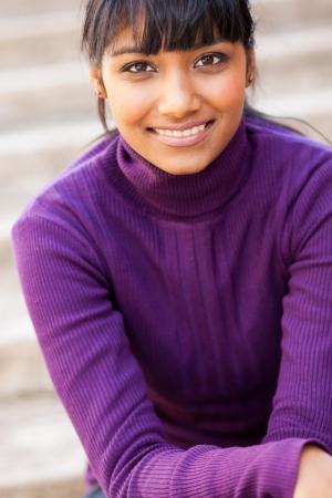 fille pull: teen girl closeup portrait indien