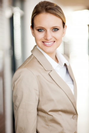 beautiful young woman in suit photo
