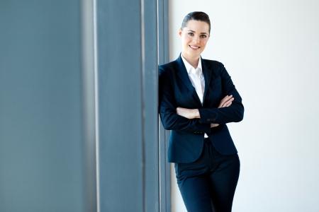 half  length: beautiful young businesswoman half length portrait