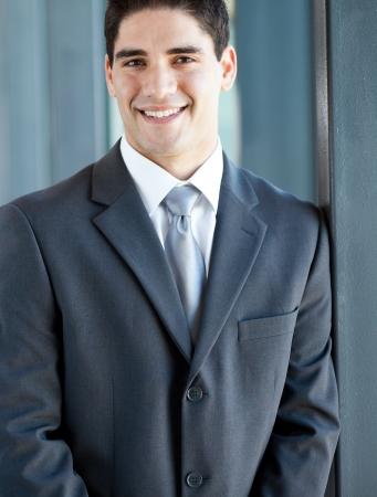 half dressed: handsome young businessman closeup portrait