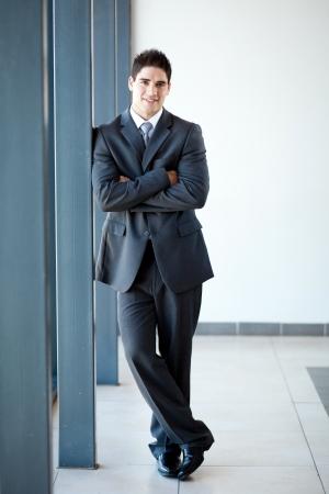 young businessman full length portrait