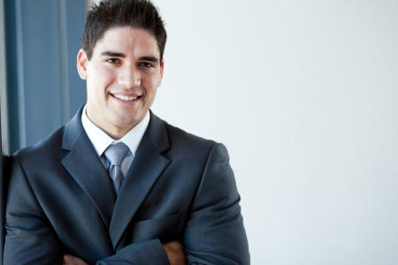 happy young businessman portrait photo