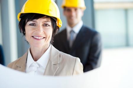 middle aged construction businesswoman closeup portrait Stock Photo - 14899061