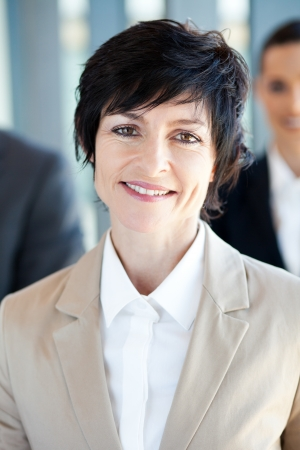 mid age businesswoman closeup portrait photo