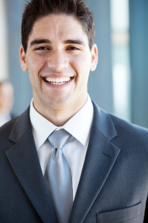 happy young businessman laughing photo