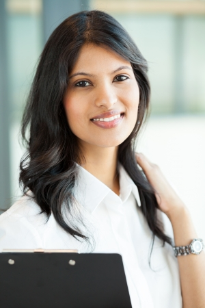 pretty indian young indian businesswoman closeup portrait photo