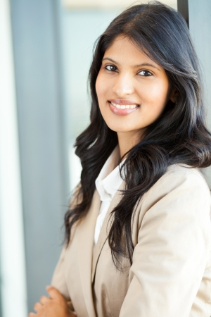 attractive young indian businesswoman closeup portrait photo
