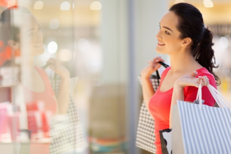 happy young woman  shopping Stock Photo - 15402208