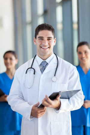 team of young  healthcare workers portrait in modern hospital Stock Photo - 15692927