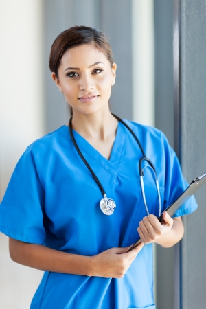 beautiful medical nurse portrait in office Stock Photo - 15692907