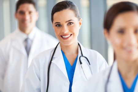 clinical staff: medical team group portrait in hospital Stock Photo