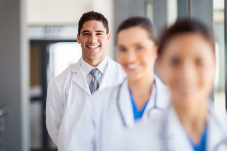 happy group of doctor and nurse portrait in hospital office Stock Photo - 15692961