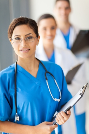 staff medico: team di medici ritratto medici in ospedale Archivio Fotografico