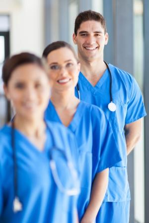 personal medico: retrato de grupo del personal del hospital en el cargo Foto de archivo
