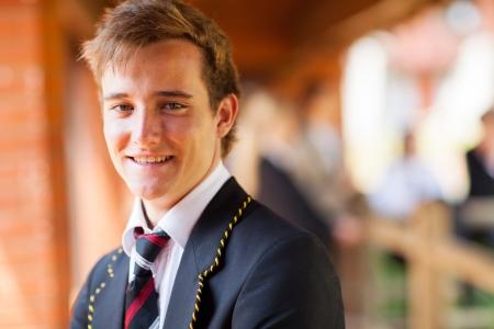 teenagers school: happy male high school student portrait