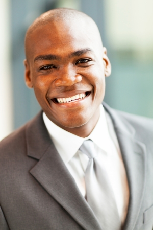 happy african american businessman closeup Stock Photo - 16013836
