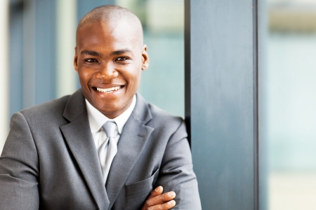 handsome male african corporate worker portrait photo