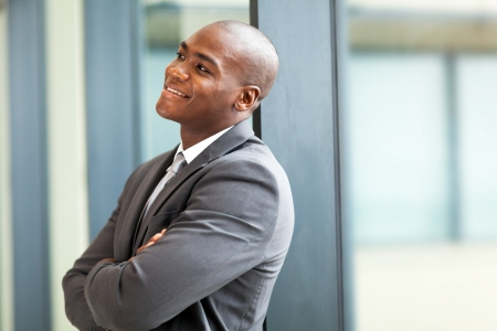 happy young african american businessman photo
