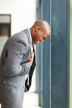 young african american businessman depression photo