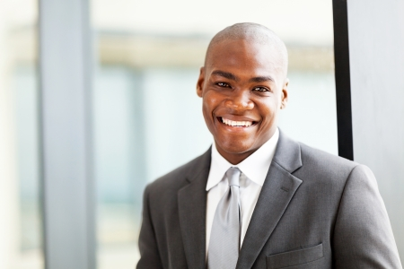 confident african american business executive portrait in office photo