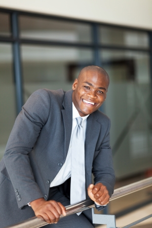 cheerful african american businessman in office Stock Photo - 16013915