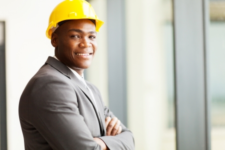 african american construction manager in office photo