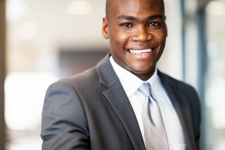 confident african american businessman closeup Stock Photo - 16013908