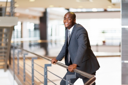 african american businessman in modern office building Stock Photo - 16013826
