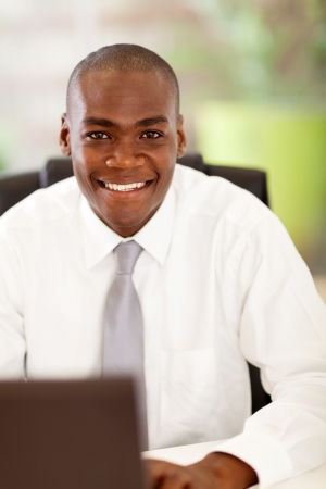 handsome african businessman in office Stock Photo - 16825054
