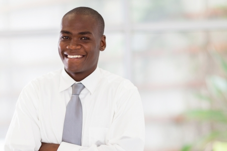 young handsome african american office worker Stock Photo - 16825240