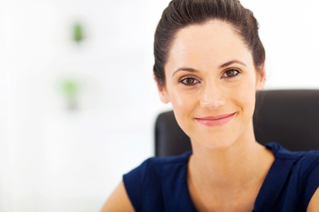 peaceful young businesswoman closeup portrait Stock Photo - 17232735