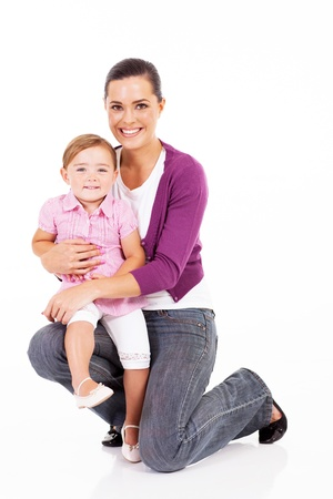 happy mother holding little daughter Stock Photo - 17365005