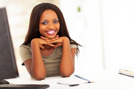 beautiful female african college student Stock Photo - 17457295