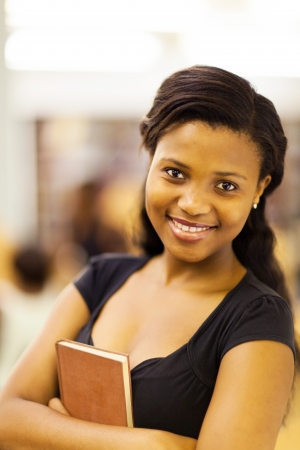 cute female african american college student closeup Stock Photo - 17718431