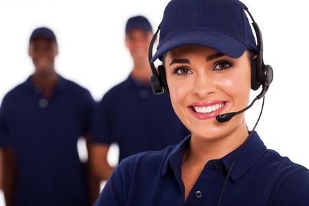 llamada Centro de Soporte Técnico operador y equipo