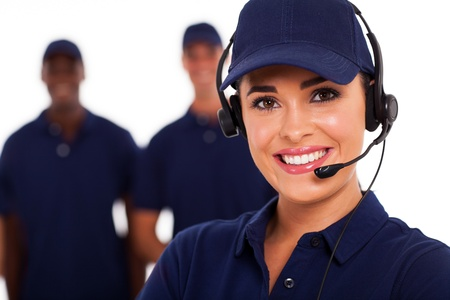 telephonist: technical support call center operator and team