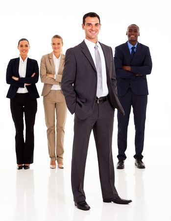 group of business people full length isolated on white Stock Photo - 17781808