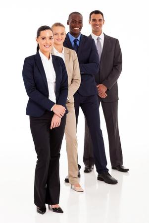business team full length portrait on white Stock Photo - 17781767