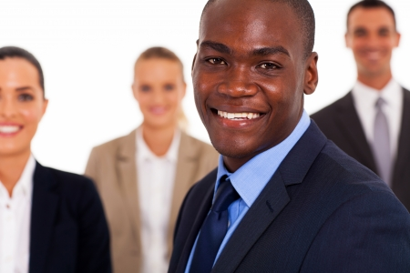 african american businessman and colleagues Stock Photo - 17781910