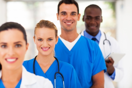 group of medical doctors and nurses portrait photo