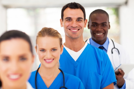 group of modern medical professionals portrait  photo