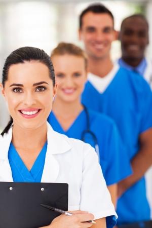 staff medico: gruppo di moderni intelligente medica squadra primo piano Archivio Fotografico
