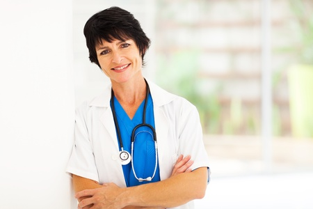 pretty female middle aged hospital worker portrait photo
