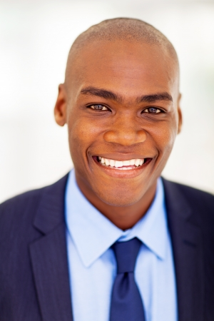 modern african businessman closeup headshot photo