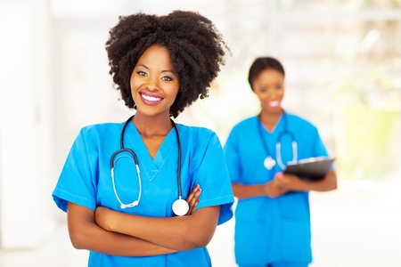 professional african american medical nurse in office Stock Photo - 18578767