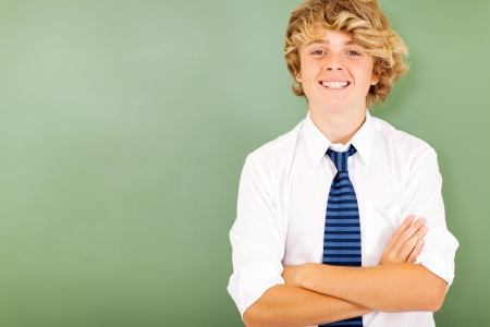 good looking male high school student in classroom Reklamní fotografie